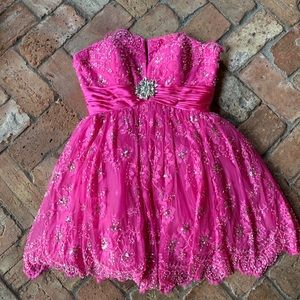 Sherri Hill Fuchsia Short Dress